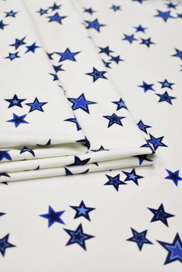 Футер белый с синими звездами (8459) - Фото 9
