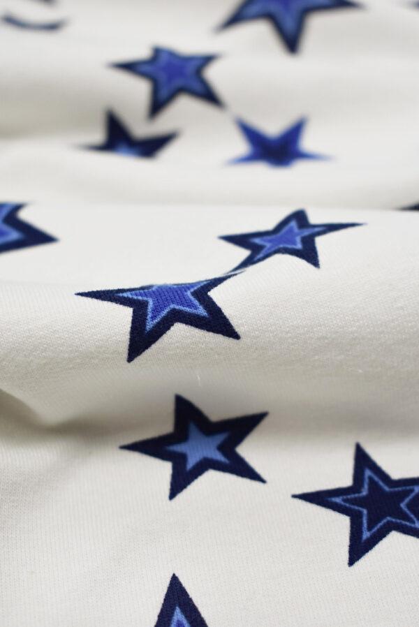 Футер белый с синими звездами (8459) - Фото 10