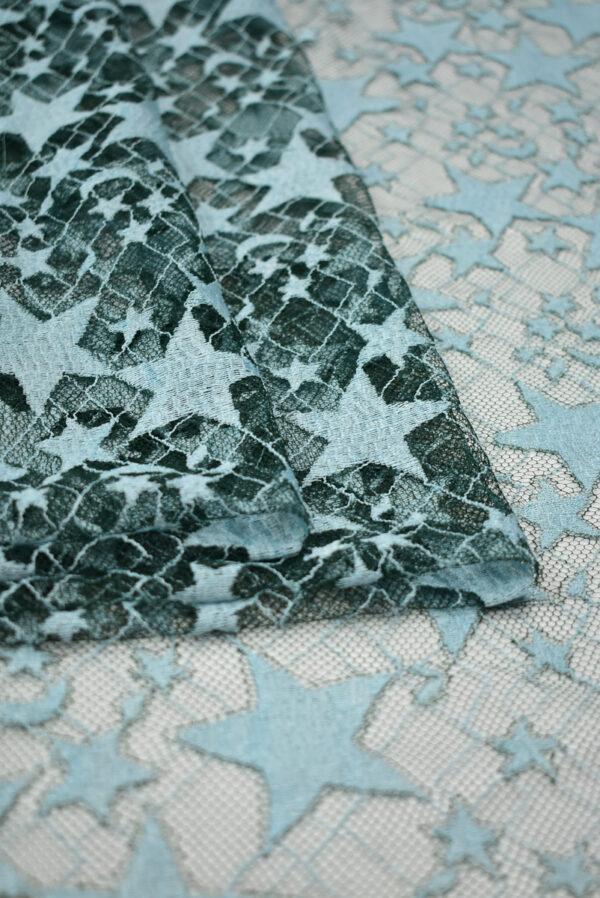 Кружево мятное со звездами (8535) - Фото 9