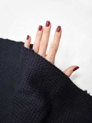 Трикотаж вязаный черничный проклеенный (8602) - Фото 17