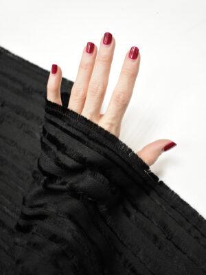 Костюмная ткань черная с бахромой (8721) - Фото 19