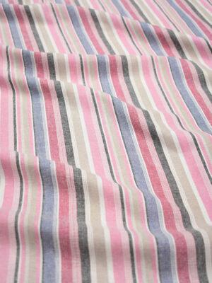 Лен в розовую и голубую полоску (8753) - Фото 15