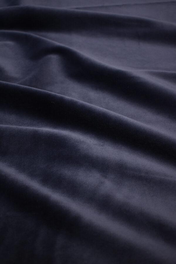 Бархат стрейч хлопковый темно-синий (8762) - Фото 6