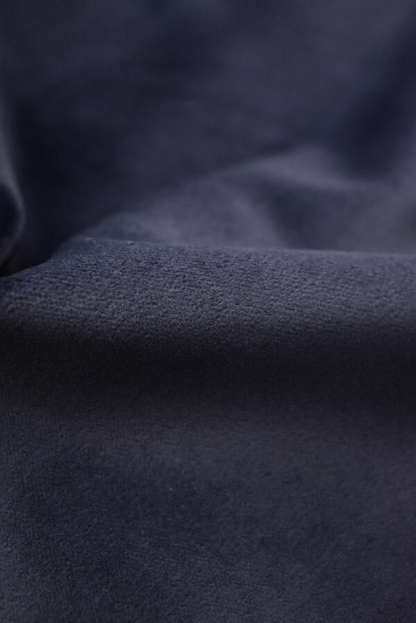 Бархат стрейч хлопковый темно-синий (8762) - Фото 10
