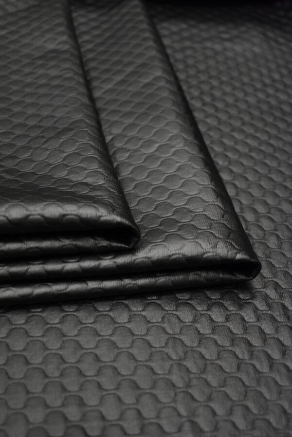 Экокожа темный графит стеганая (8785) - Фото 8