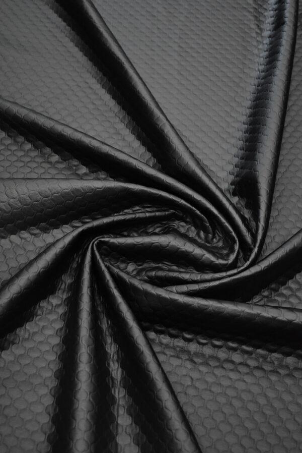 Экокожа темный графит стеганая (8785) - Фото 9