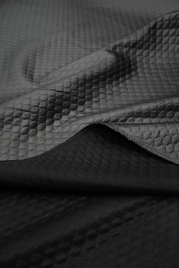 Экокожа темный графит стеганая (8785) - Фото 10