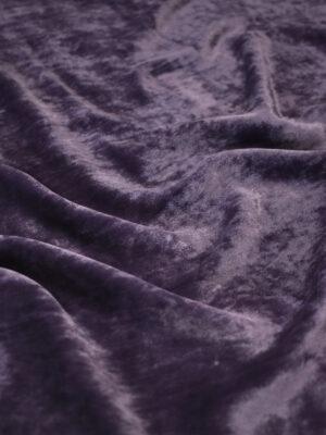 Бархат шелковый темно-сливовый (8931) - Фото 11