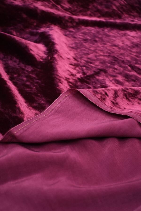 Бархат шелковый фуксия (8932) - Фото 9