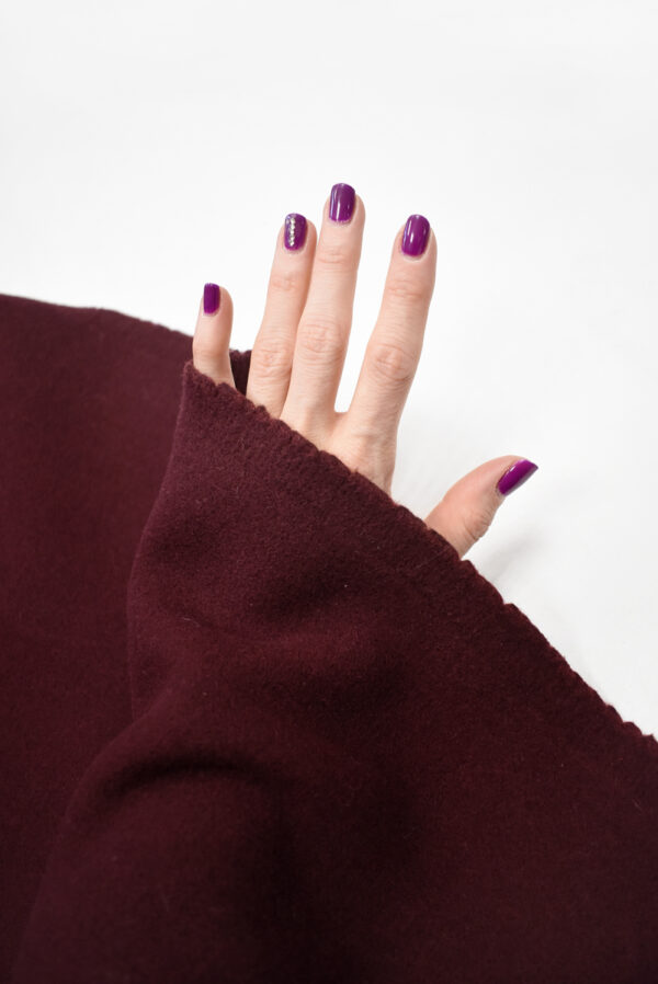 Пальтовая шерсть бордового цвета (8954) - Фото 7