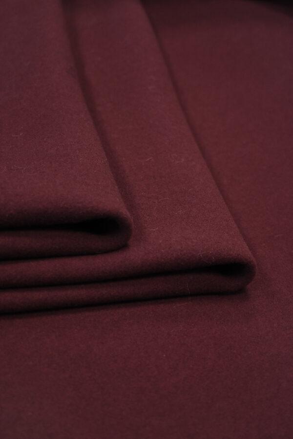 Пальтовая шерсть бордового цвета (8954) - Фото 9