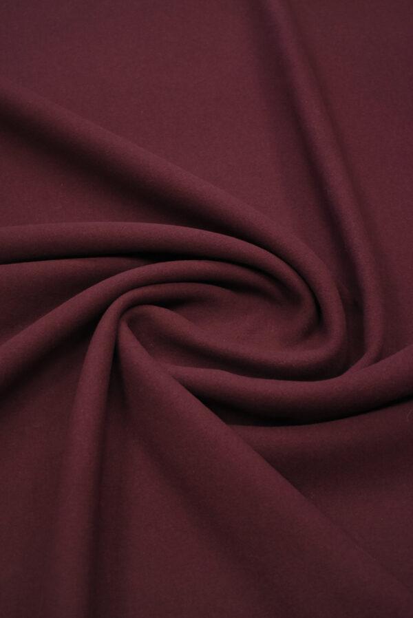 Пальтовая шерсть бордового цвета (8954) - Фото 8