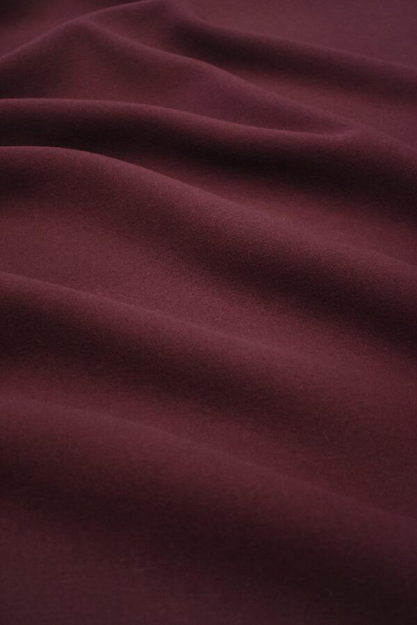 Пальтовая шерсть бордового цвета (8954) - Фото 6
