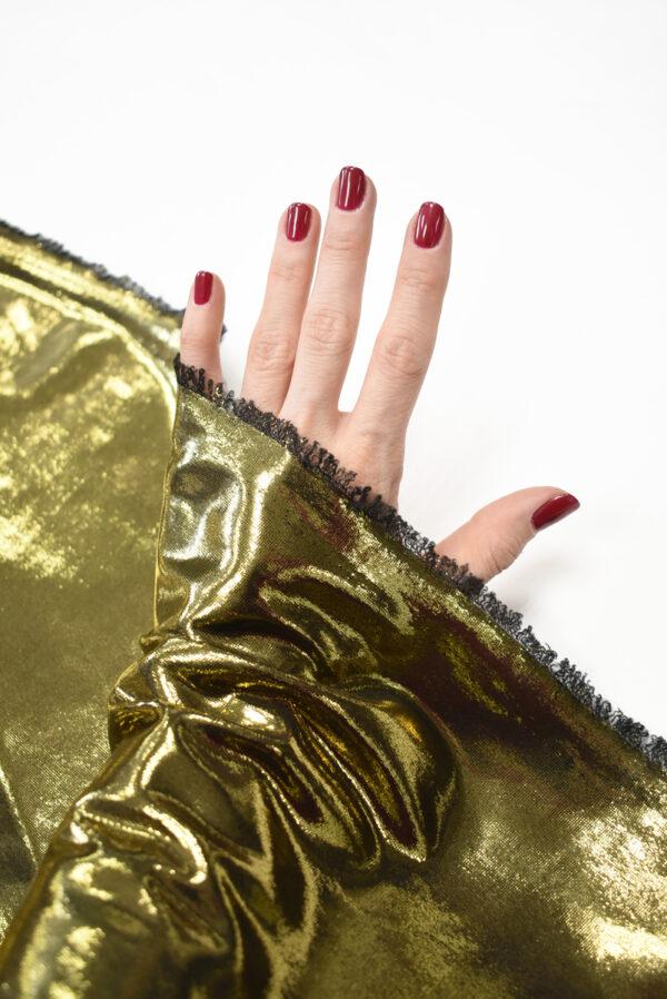 Трикотаж золотой с глянцевым блеском (8966) - Фото 11