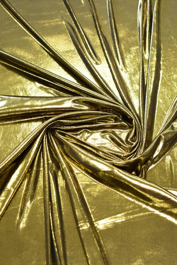 Трикотаж золотой с глянцевым блеском (8966) - Фото 7