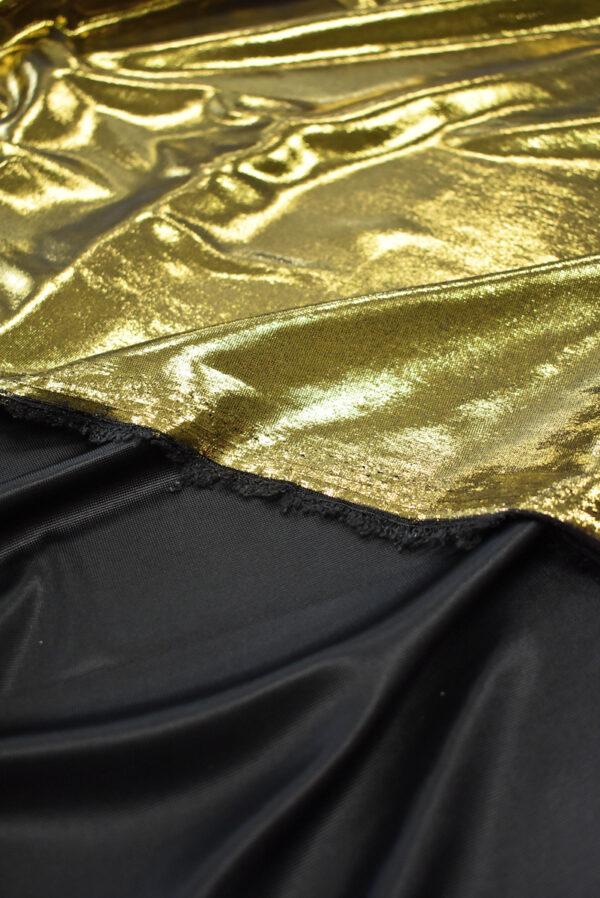 Трикотаж золотой с глянцевым блеском (8966) - Фото 8