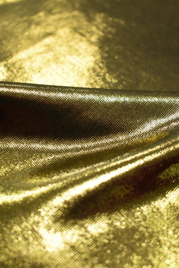 Трикотаж золотой с глянцевым блеском (8966) - Фото 10