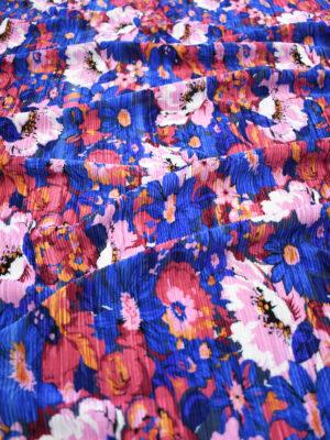 Плиссе с разноцветными цветами на синем (9067) - Фото 20