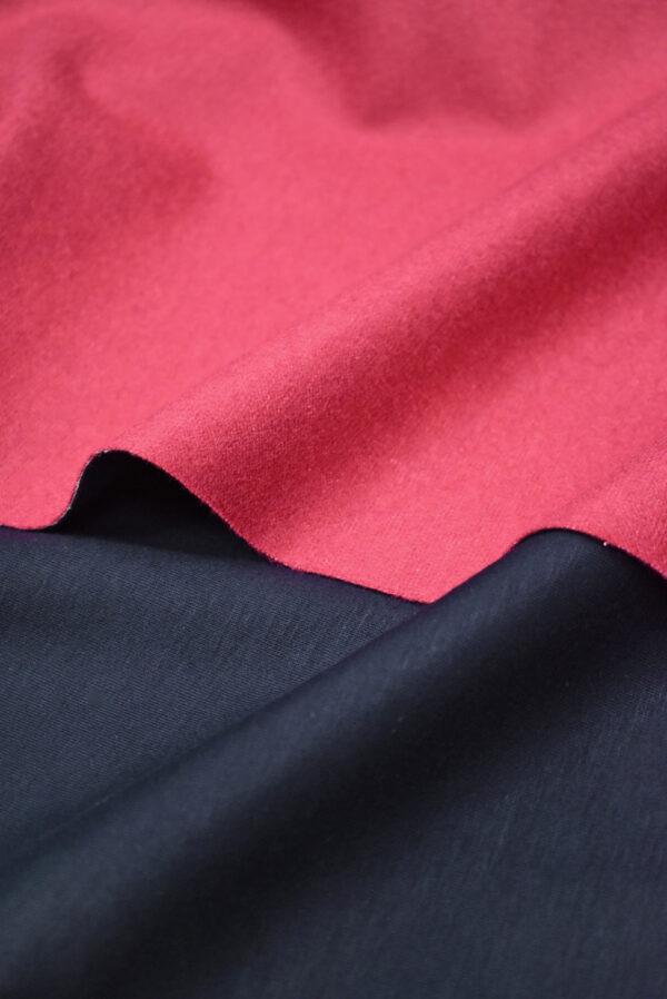 Твид неопрен розовый с темно-синей изнанкой (9391) - Фото 6