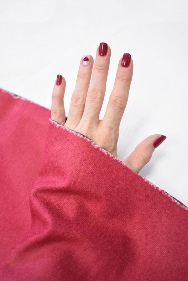 Твид неопрен розовый с темно-синей изнанкой (9391) - Фото 10