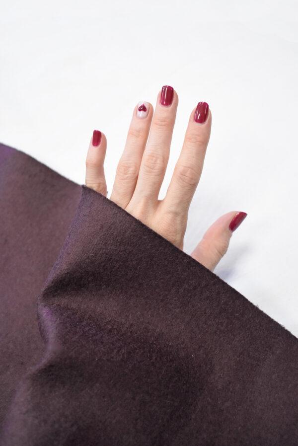 Твид неопрен пыльно-лиловый с черным (9341) - Фото 11