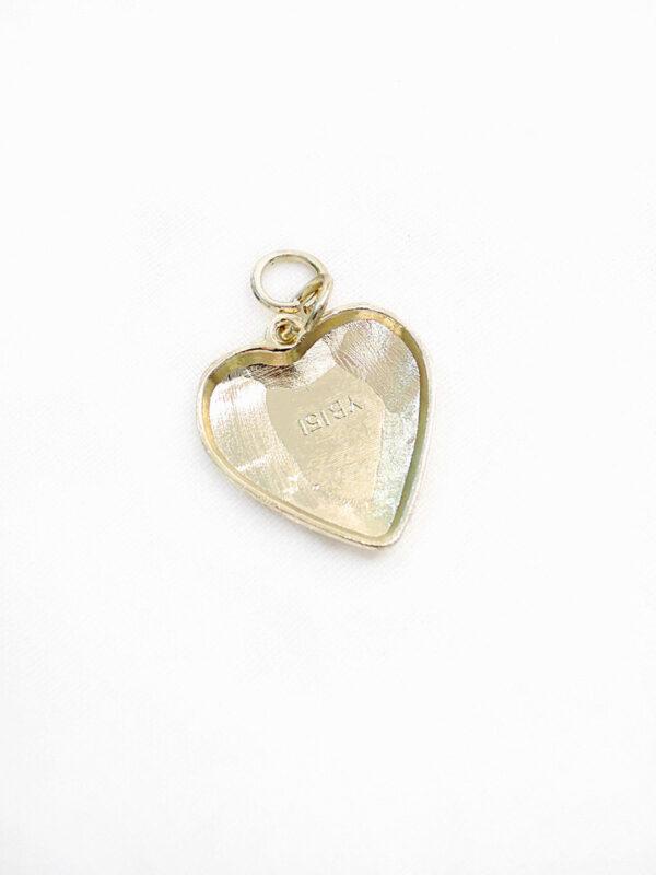 Подвеска сердце металл золото 2