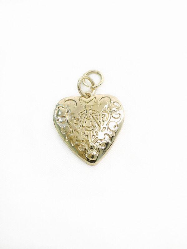 Подвеска сердце металл золото