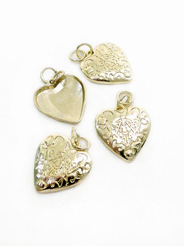 Подвеска сердце металл золото 1