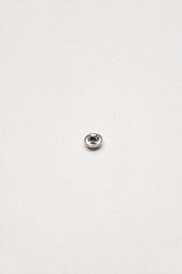 Пуговица маленькая серебро с малиновым кристаллом обтянутым сеточкой (p0852) - Фото 7