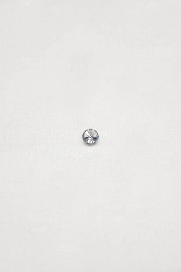 Пуговица маленькая с кристаллом сваровски в серебряной оправе на ножке (p0864) - Фото 6