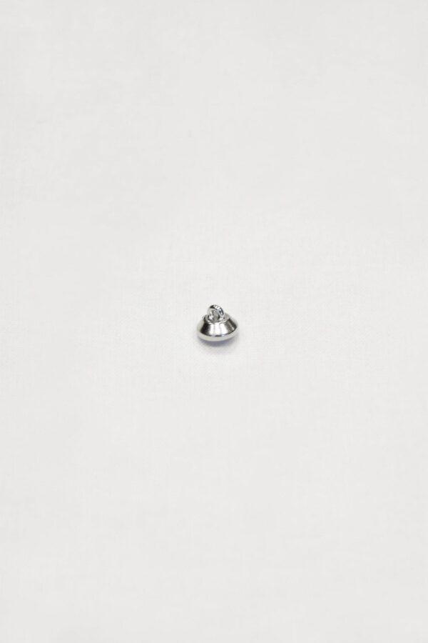 Пуговица маленькая с кристаллом сваровски в серебряной оправе на ножке (p0864) - Фото 7