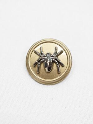 Пуговица металл беж с серебряным пауком (p0891) - Фото 15