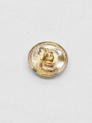 Пуговица маленькая металл золото цифра 5 с окантовкой (p0931) к20 - Фото 10