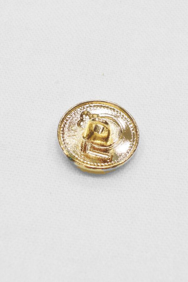 Пуговица маленькая металл золото цифра 5 с окантовкой (p0931) к20 - Фото 7