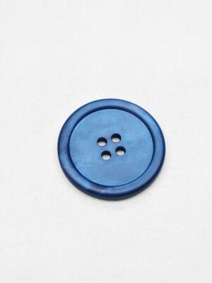 Пуговица пластик синяя перламутровая на четыре прокола (р0948) - Фото 12