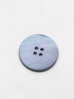 Пуговица пластик серо-голубая перламутровая на четыре прокола (р0949) - Фото 11
