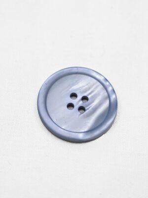 Пуговица пластик серо-голубая перламутровая на четыре прокола (р0949) - Фото 10