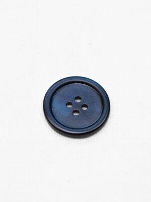 Пуговица пластик темно-синяя перламутровая на четыре прокола маленькая (р0952) - Фото 12