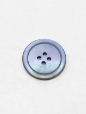 Пуговица пластик серо-голубая перламутровая на четыре прокола (р0953) - Фото 14