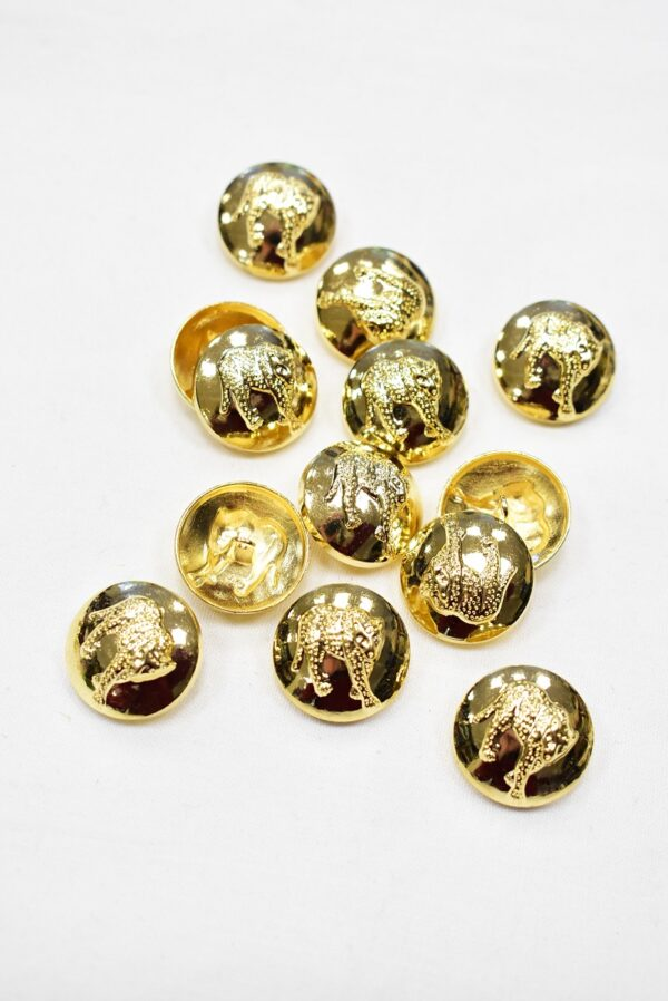 Пуговицы металл золото объемные с гепардом (р0963) - Фото 8