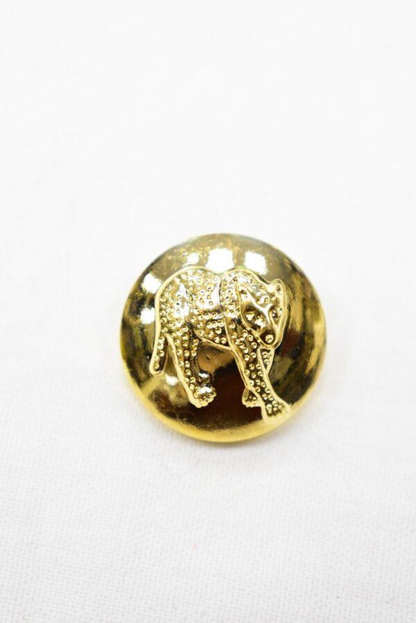 Пуговицы металл золото объемные с гепардом (р0963) - Фото 6