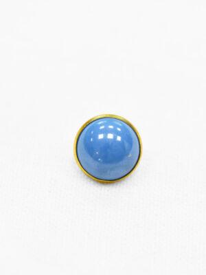 Пуговицы блузочные голубые выпуклые металл золото эмаль (p0987) - Фото 15