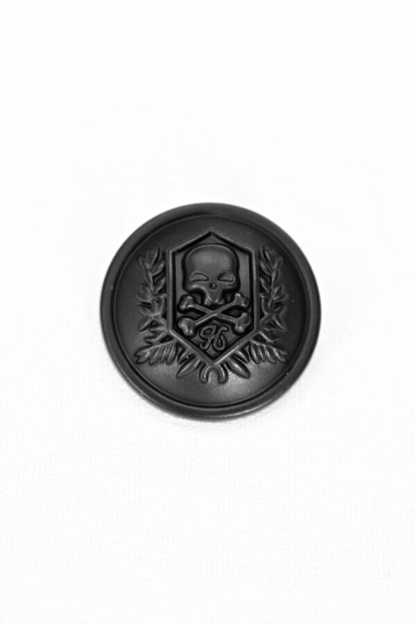 Пуговицы металл черные матовые с черепом (p0996) к5 - Фото 6
