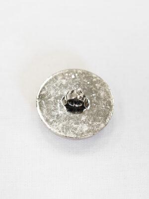 Пуговица пластик белая эмаль с серебристыми вставками (р1000) - Фото 17