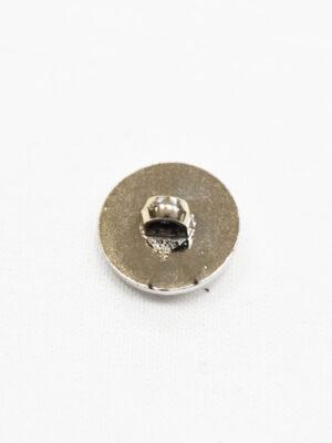 Пуговица пластик белая эмаль с цепочкой и окантовкой (p1007) - Фото 15