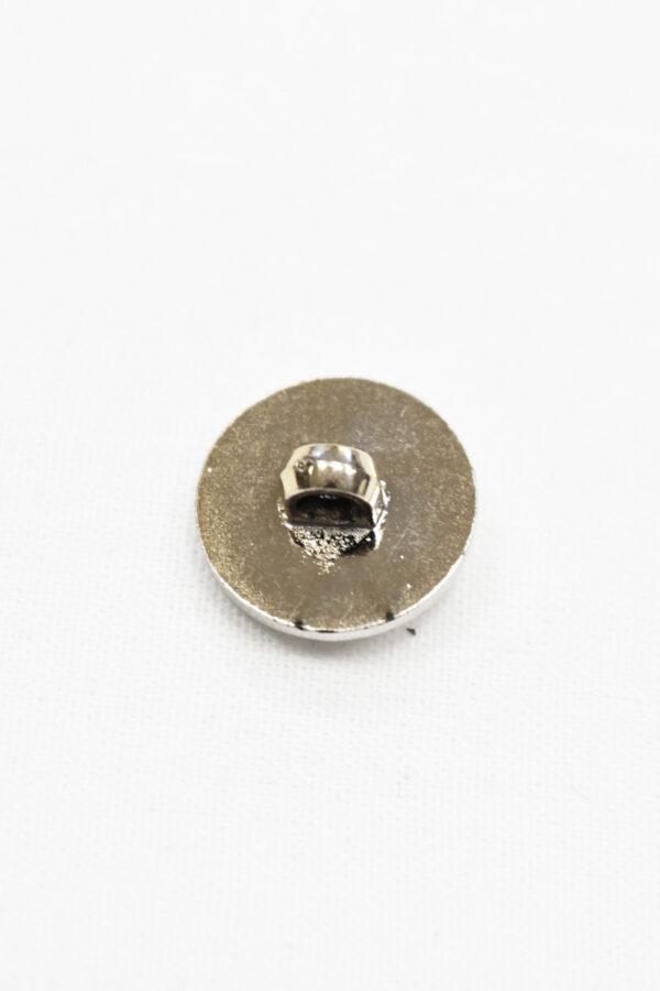 Пуговица пластик белая эмаль с цепочкой и окантовкой (p1007) - Фото 7