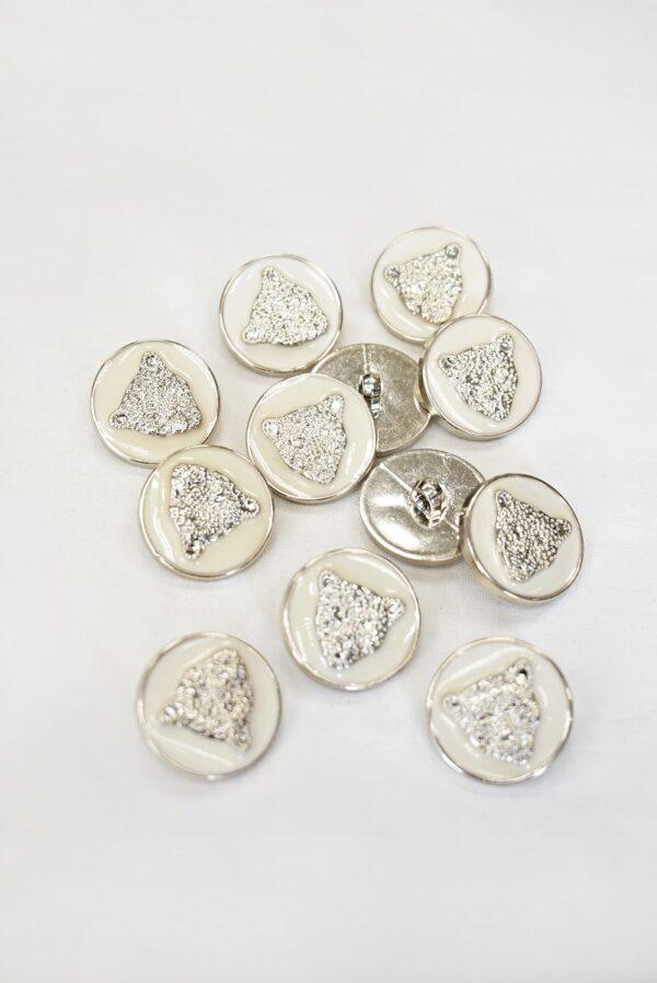 Пуговицы с головой льва пластик эмаль светлое золото 25мм  (p1008) к1 - Фото 8