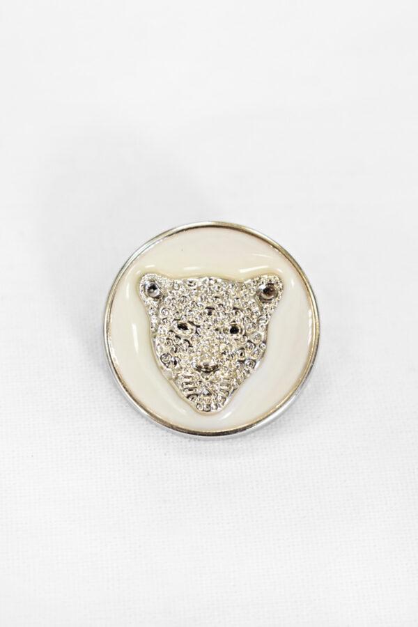 Пуговицы с головой льва пластик эмаль светлое золото 25мм  (p1008) к1 - Фото 6