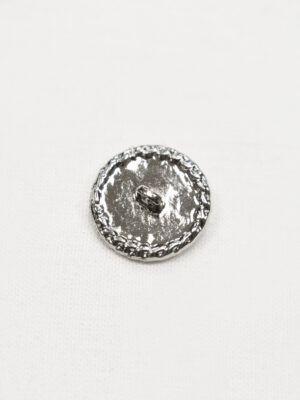 Пуговица пластик белая эмаль с серебряной окантовкой в виде цепи (p1017) - Фото 12