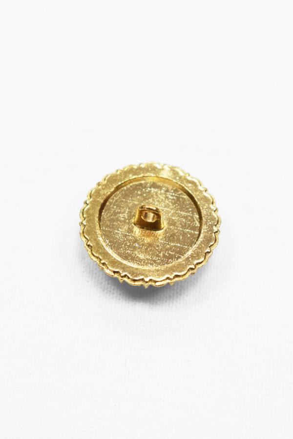 Пуговицы металл золото жемчужина в оправе со стразами (p1020) - Фото 7
